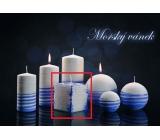 Lima Aromatická spirála Mořský vánek svíčka bílo - modrá krychle 65 x 65 mm 1 kus