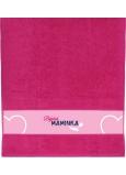 Albi Ručník Báječná maminka růžová 90 cm × 50 cm