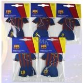 FC Barcelona aromatická vonná karta do auta ve tvaru oblečení hráčů klubu expirace 10/2017