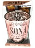Albi Třpytivý svícen ze skla na čajovou svíčku SOŇA, 7 cm