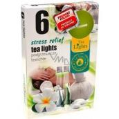 Tea Lights Stress Relief s vůní úleva od stresu vonné čajové svíčky 6 kusů