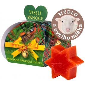 Moje Vánoční hvězda mandarinka dárkové mýdlo z ovčího mléka 13 g
