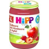 Hipp Ovoce Bio Jablka s jahodami a malinami ovocný příkrm, snížený obsah laktózy a bez přidaného cukru pro děti 190 g