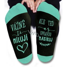 Nekupto Rodinné dárky s humorem Ponožky Vážně tě miluji, velikost 39-42