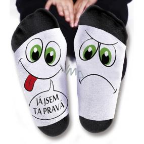 Nekupto Rodinné dárky s humorem Ponožky Jsem ta pravá, velikost 43-46