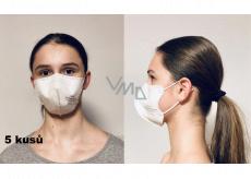 Crdlight Respirátor FFP2 obličejová maska pro děti Junior bílá 5 kusů