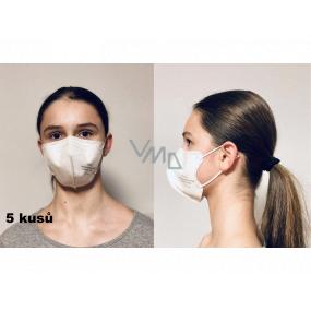 Crdlight Respirátor FFP2 obličejová maska pro děti Junior bílá 10 kusů