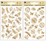 Obtisky vodové ze zlaté fólie 9 x 15 cm