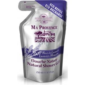 Ma Provence Bio Květ levandule Pravý přírodní sprchový gel náhradní náplň 250 ml