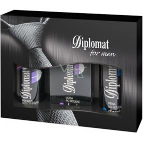 Astrid Diplomat Classic Pěna na holení 200 ml + voda po holení 100 ml + deodorant sprej 150 ml, pro muže kosmetická sada