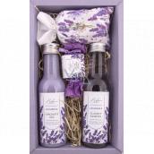 Bohemia Gifts Lavender s extraktem z bylin a vůní levandule sprchový gel 200 ml + šampon na vlasy 300 ml + toaletní mýdlo 30 g + sůl do koupele 150 g, kosmetická sada