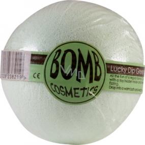 Bomb Cosmetics Zelený - Lucky Dip Green Šumivý balistik do koupele s překvapením pro děti 160 g