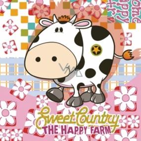 Daisy Papírové ubrousky kravička 3 vrstvé 33 x 33 cm 20 kusů