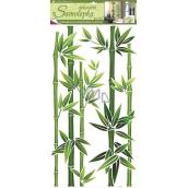 Room Decor Samolepky na zeď bambus zelený 60 x 32 cm