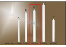 Lima Gastro Kostelní hladká svíčka bílá dlouhá 30 x 370 mm 1 kus