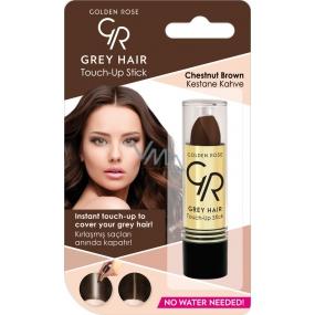 Golden Rose Gray Hair Touch-Up Stick barvící korektor na odrostlé a šedivé vlasy 07 Chestnut Brown 5,2 g