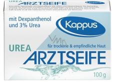 Kappus Urea lékařské toaletní mýdlo bez parfemace a barviv pro alergickou pokožku čiré 100 g