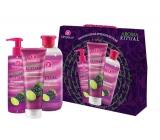 Dermacol Aroma Ritual Hrozny s limetkou sprchový gel 250 ml + tekuté mýdlo 250 ml + pěna do koupele 500 ml, kosmetická sada