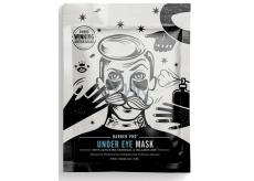 Barber Pro Pleťová maska pod oči s aktivním uhlím a sopečným popelem pro muže 3 x 3,5 ml