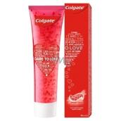 Colgate Dare To Love červená zubní pasta obsahuje chladící rozpustné krystalky ve tvaru srdce 98 ml