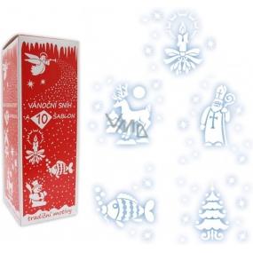 Vánoční sníh s 10 šablonami sprej 150 ml