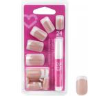 Diva & Nice Nalepovací nehty francouzská manikúra s lepidlem 24 kusů NFD04-CBP