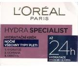 Loreal Paris Hydra Specialist noční hydratační krém pro všechny typy pleti 50 ml