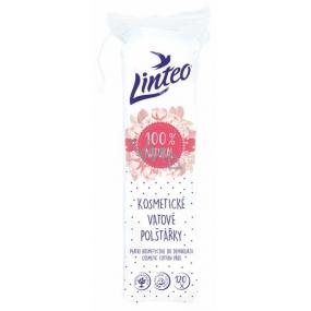 Linteo 100% Natural kosmetické vatové odličovací tampony 120 kusů