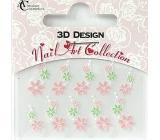 Absolute Cosmetics Nail Art 3D nálepky na nehty 24919 1 aršík
