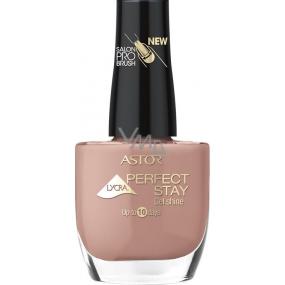 Astor Perfect Stay Gel Shine 3v1 lak na nehty 123 Retro Rose 12 ml