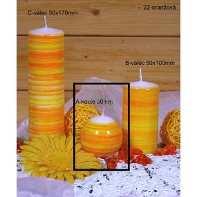 Lima Twist svíčka oranžová koule 60 mm 1 kus