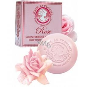 Jeanne en Provence Rose Okouzlující růže tuhé toaletní mýdlo 100 g