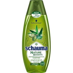 Schauma Nature Moments Středomořský olivový olej a Aloe Vera regenerační proti třepení konečků šampon na vlasy 400 ml