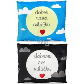Albi Humorný polštář velký Dobré ráno/Dobrou noc 36 cm × 30 cm