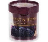 Heart & Home Šťavnaté moruše Sojová svíčka bez obalu hoří až 15 hodin 53 g