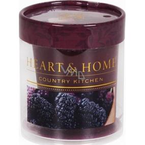 Heart & Home Šťavnaté moruše Sojová vonná svíčka bez obalu hoří až 15 hodin 53 g