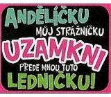 Nekupto Dárky s humorem Magnet ledničkový Andělíčku můj strážníčku 23 x 12 cm WM 011