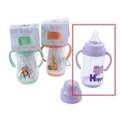 Baby First Hroch 0+ kojenecká láhev s úchopy 250 ml