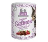 Brit Care Cat Snack Křupavý lososový pamlsek se šípkem a brusinkami doplňkové krmivo pro dospělé kočky 100 g