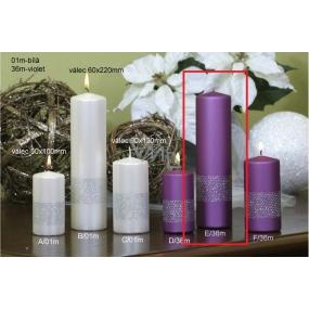 Lima Stuha svíčka lila válec 60 x 220 mm 1 kus