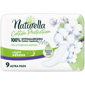 Naturella Cotton Protection Ultra Night hygienické vložky s křidélky 9 kusů