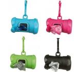 Trixie Pouzdro ve tvaru kost + náhradní sáčky na psí exkrementy 15 kusů různé barvy