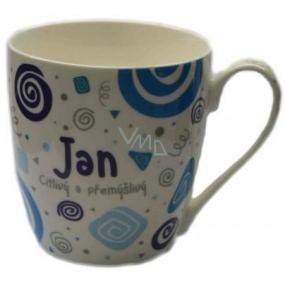 Nekupto Twister hrnek se jménem Jan modrý 0,4 litru