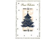 Nekupto Přání k Vánocům Veselé Vánoce a Štastný Nový rok Pour Feliciter