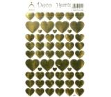 Arch Holografické dekorační samolepky srdíčka zlatá