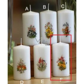 Lima Jarní motiv Kuřátka svíčka bílá válec 50 x 100 mm 1 kus