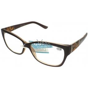 Berkeley Čtecí dioptrické brýle +2,50 hnědé 1 kus ER8050