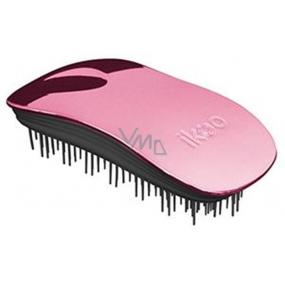 Ikoo Metallic Home Rose Black kartáč na vlasy podle čínské medicíny světle růžovo-černý