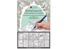 Antistresové omalovánky 12 motivů, 24 stránek - zvířecí království 23 x 16 cm