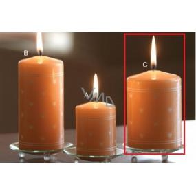 Lima Srdíčko potisk svíčka lososová válec 70 x 100 mm 1 kus